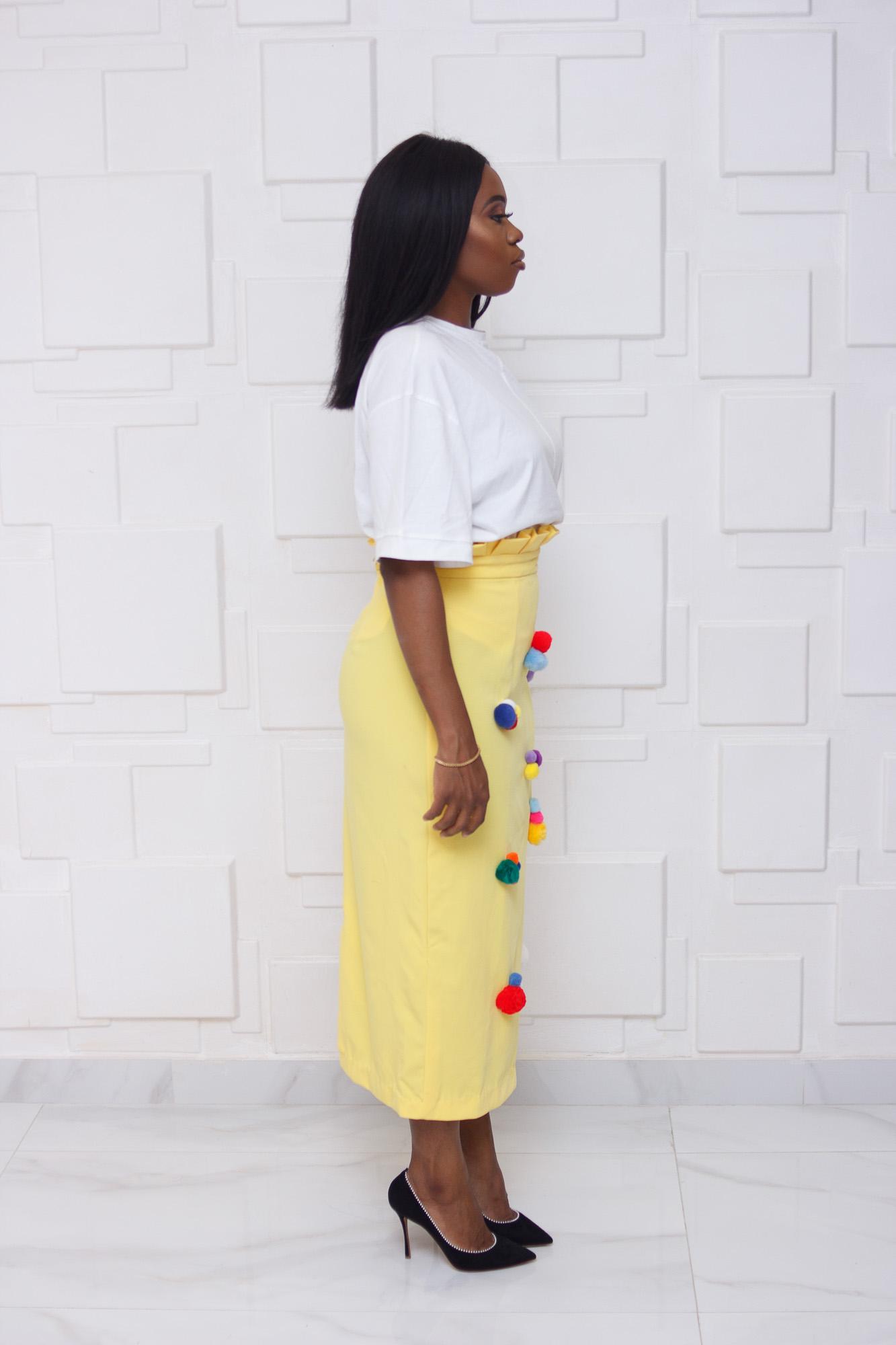 Pom Pom Midi Skirt (Copy)