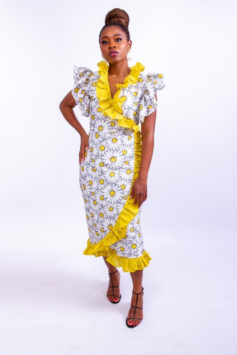 Bloom Wrap Dress