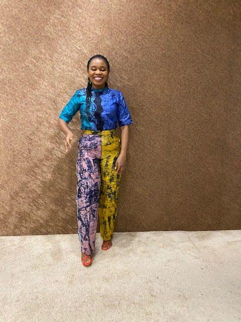 Multicolored Batik Top & Pant Set