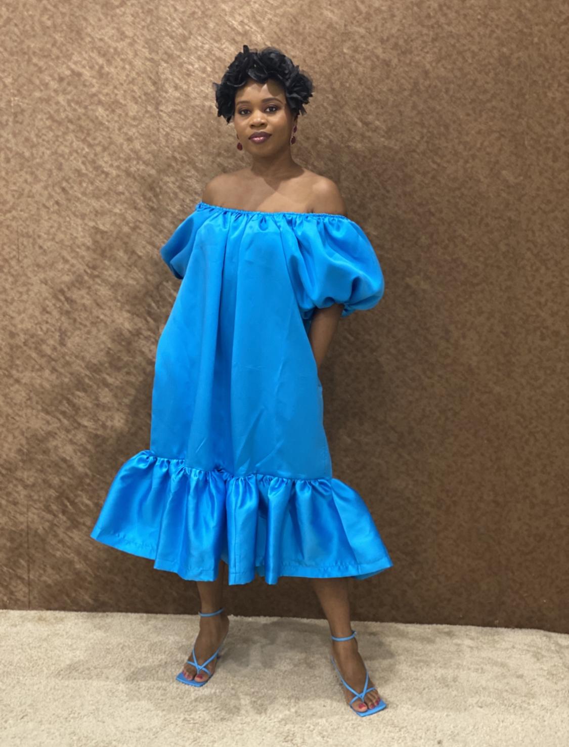 Silk Taffeta Shift Dress