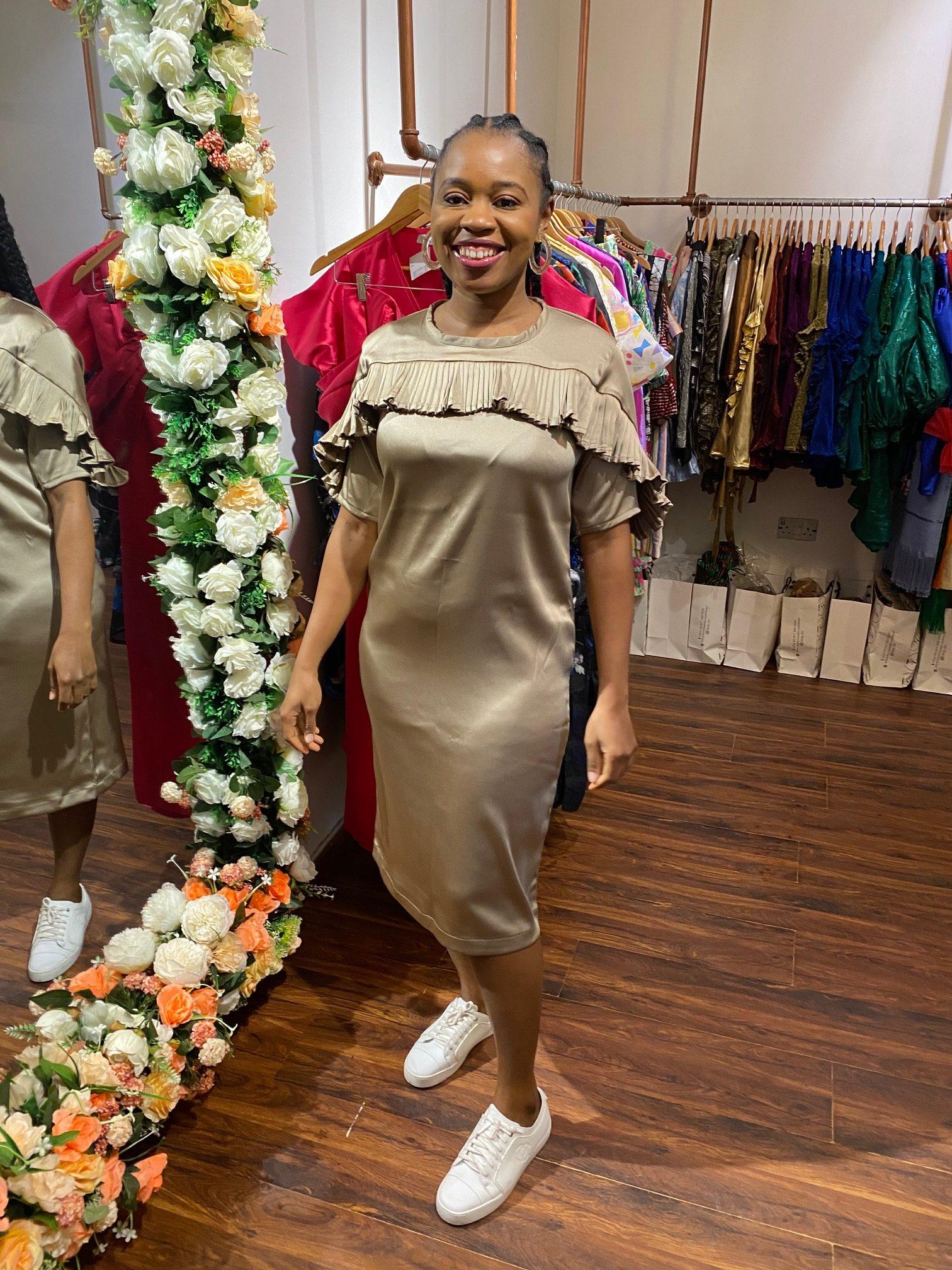 Duchess Satin Shift Dress