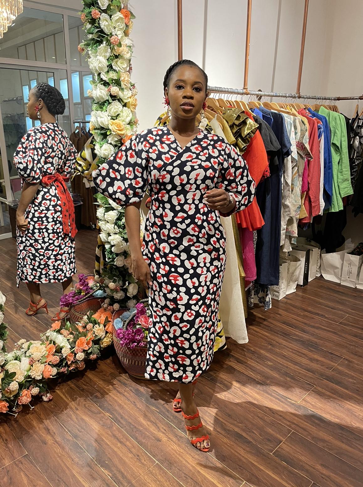 Tolulope Reversible Wrap Dress